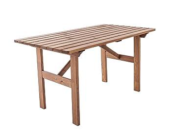 Amazon De Ambientehome Gartentisch Tisch Massivholz Esstisch Hanko
