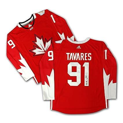 purchase cheap 79fa9 60eba John Tavares Signed Red Adidas Team Canada 2016 Jersey ...