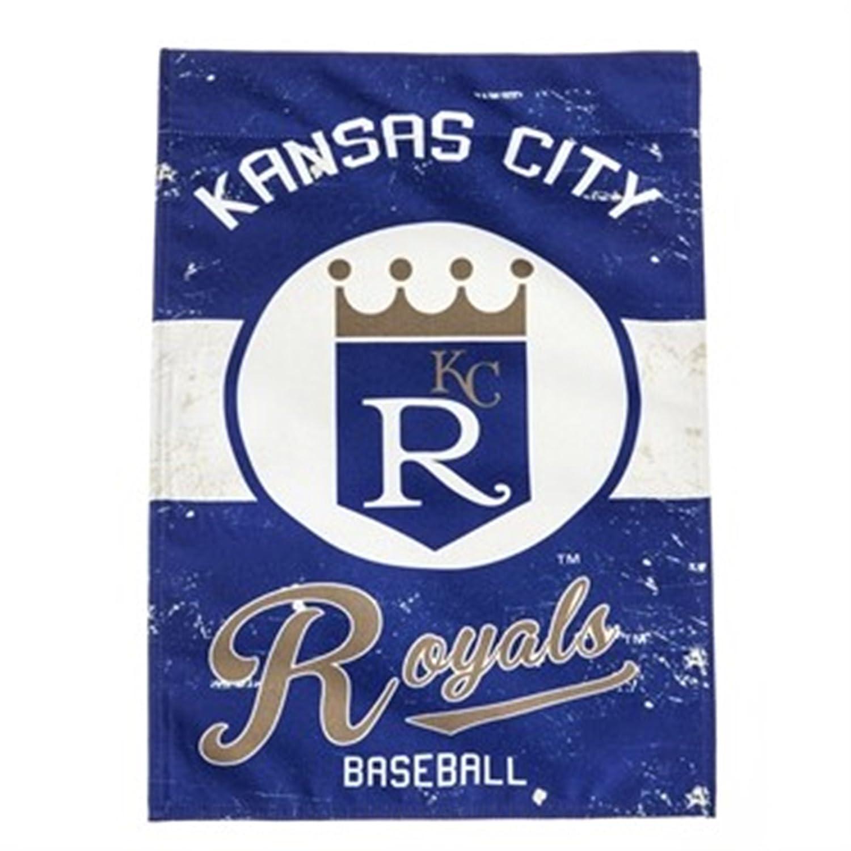 Rico Industries, Inc. Kansas City Royals EG Vintage Garden Flag Premium 2-Sided Retro Banner Baseball