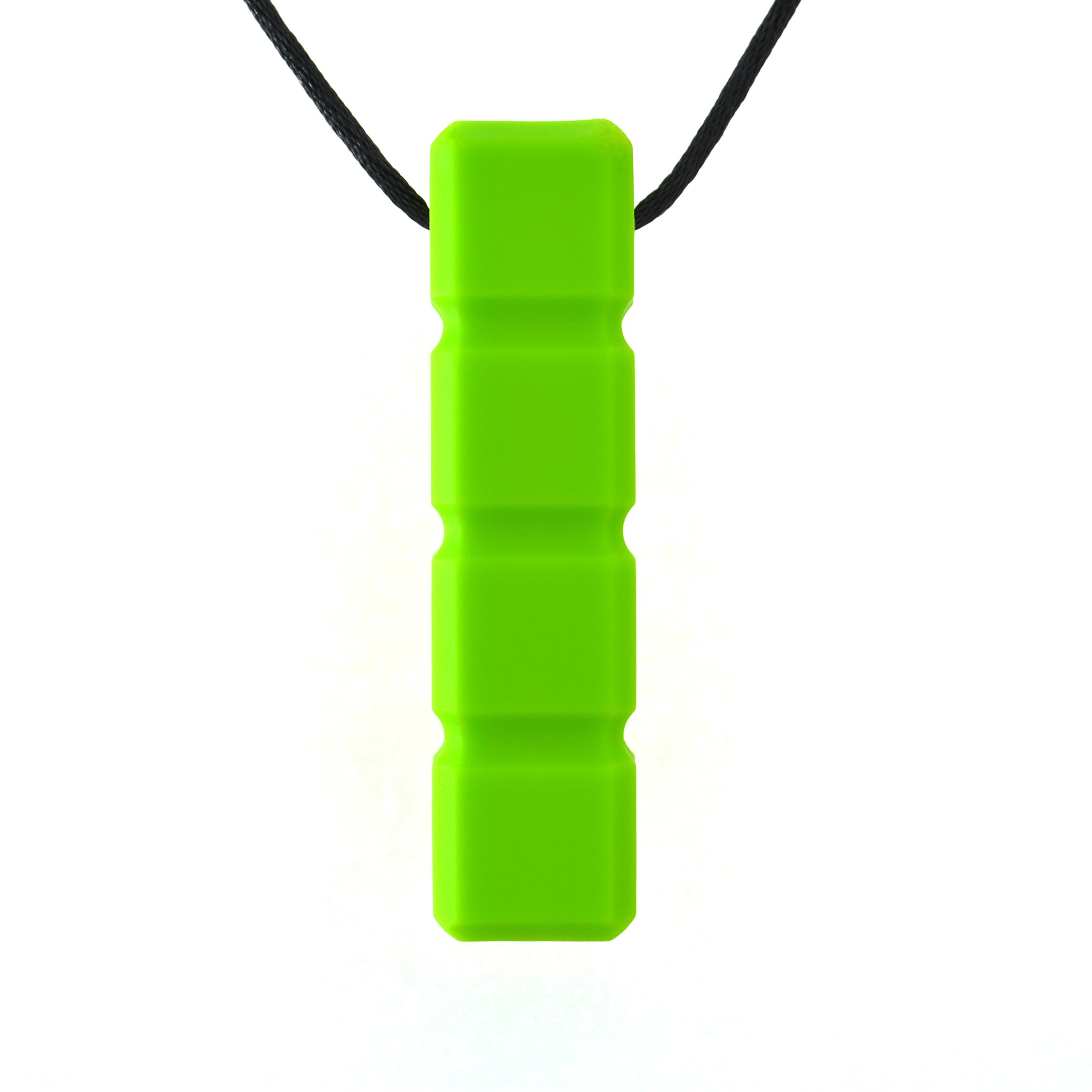 Quell-O Quad-Blockz Chewelry Oral Motor Sensory Aid Chewable Necklace - For Mild Chewers Only - Tough, Green - by by Quell-O