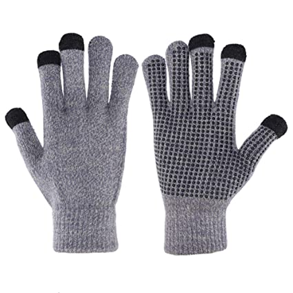2fd1ee2f7d4ca Winter Gloves For Men And Women - Knit Touch Screen Anti-Slip Silicone Gel -