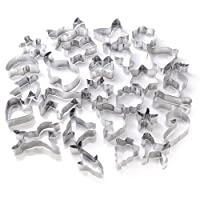 GWHOLE Cookie Cutters Set, Animal Unicorn Classic Shape Cutters for Kids Easter, Set of 26