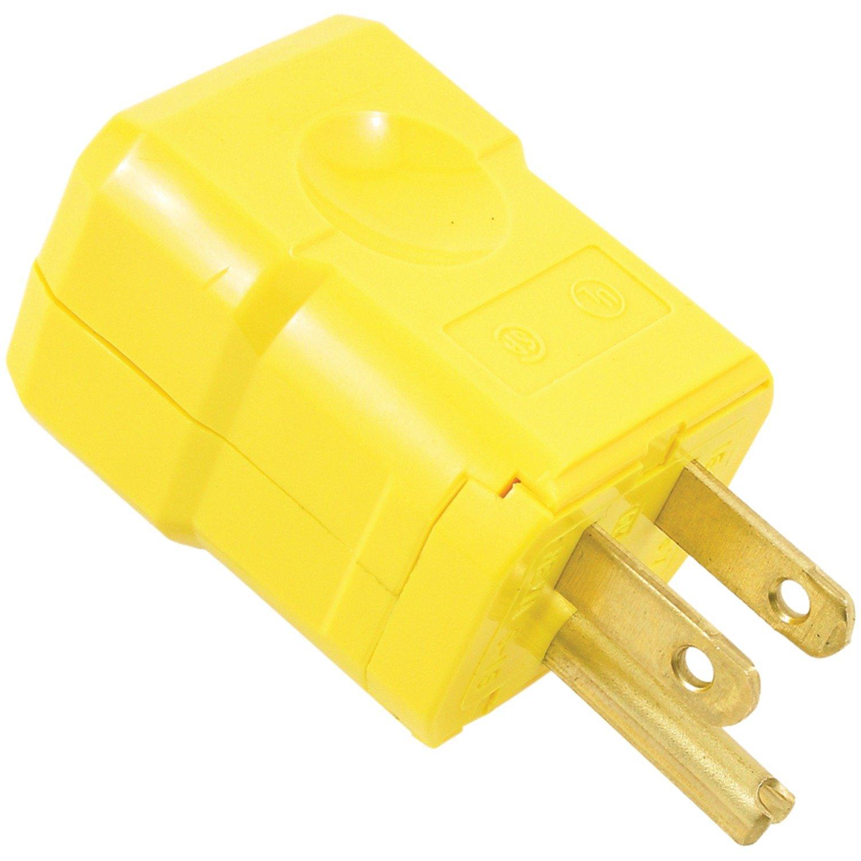 Leviton 5256-VY 15 Amp, 125 Volt, Industrial Grade, Plug, Straight ...