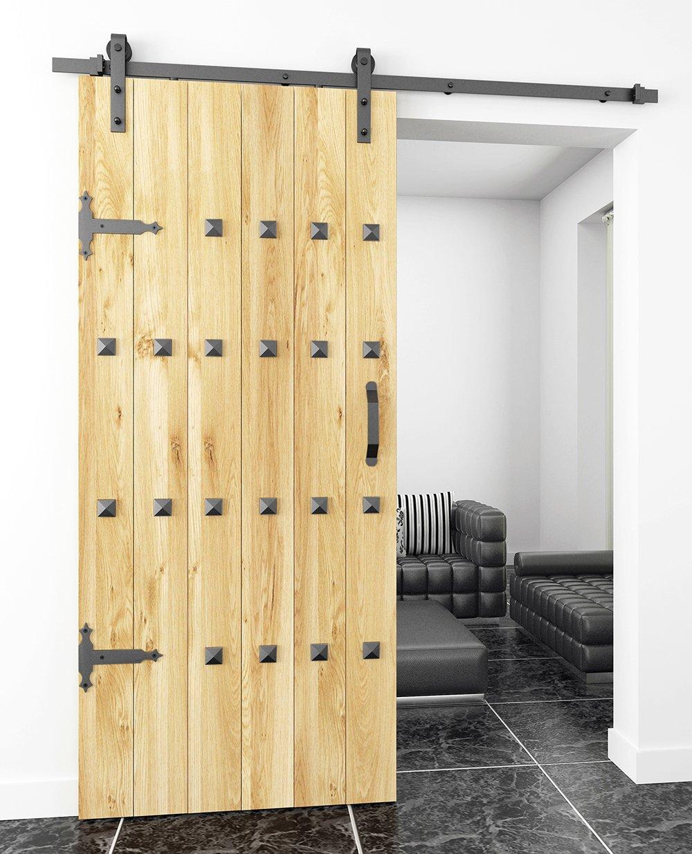 DIYHD 7-5//8 barn Door Slab L Bracket Sliding barn Door Decorative Corner Bracket Hardware