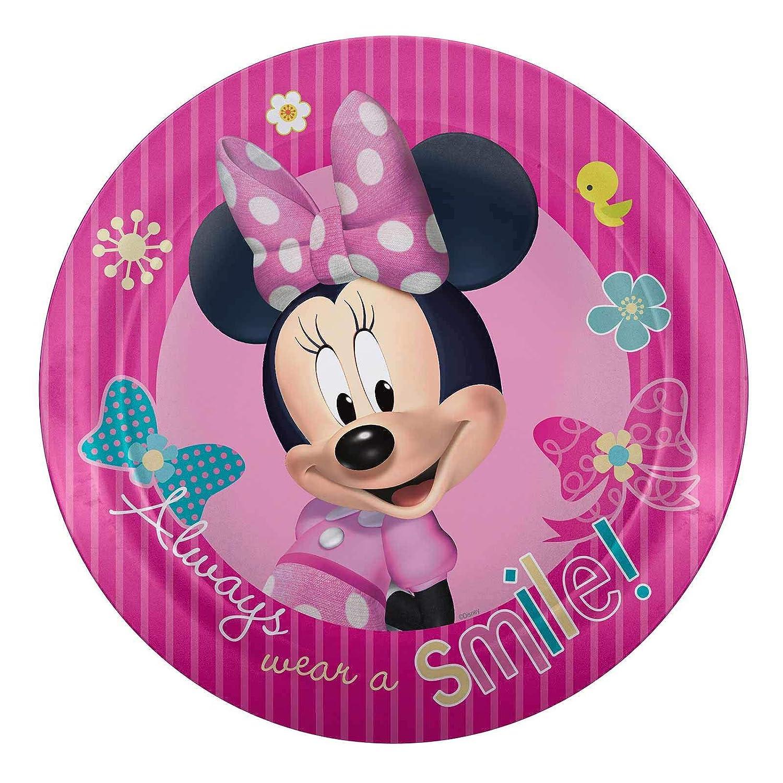Zak Designs Minnie Mouse MMCX-0351 Melamine Plate (6 Pack), 8 by Zak Designs   B00JNTWA2U