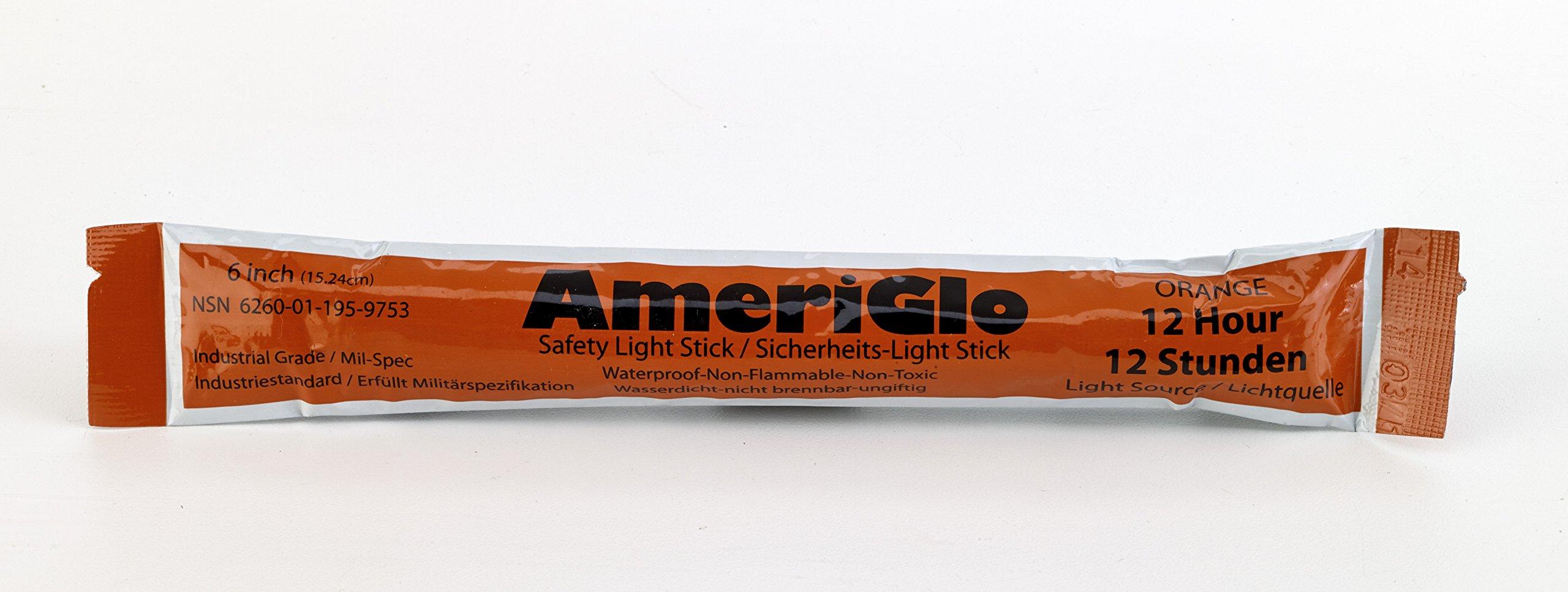 Cyalume 12 Hours Lightstick, 6'' Length, Orange (PA