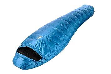 alvivo Saco de dormir (Plumón Ibex 300, turquesa y negro