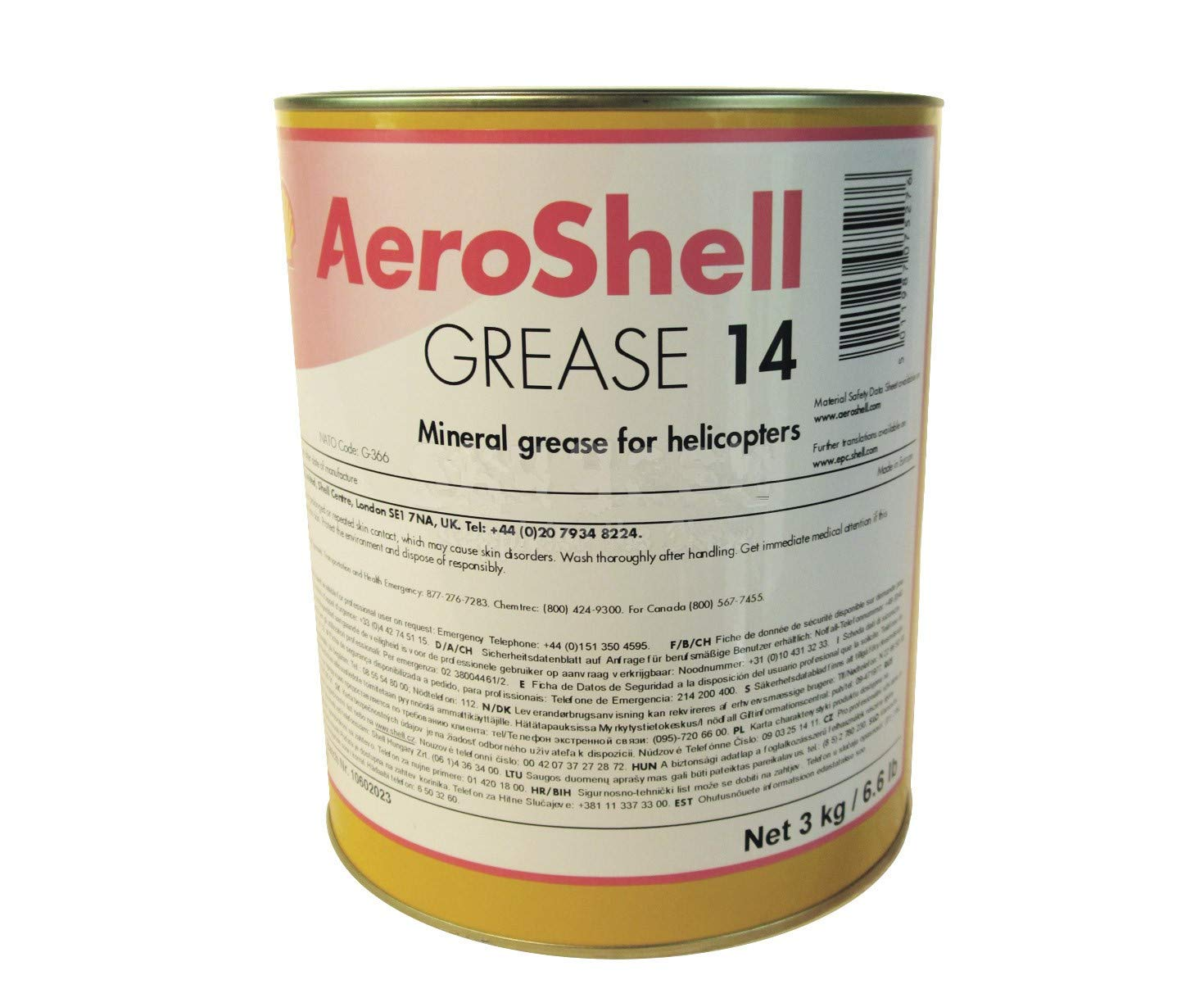 AeroShell Grease 14 Multi-Purpose Helicopter Mineral Grease - 3 Kg (6.6 lb) Can
