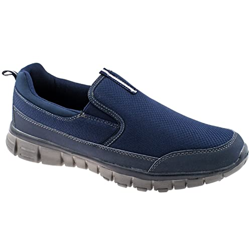MENS DEK NEPTUNE SUPER LIGHTWEIGHT MEMORY FOAM NAVY BLUE ...