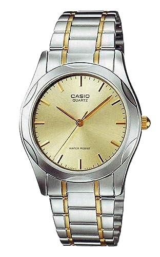 CASIO 19283 MTP-1275G-9A - Reloj Caballero Cuarzo Brazalete metálico Dorada: Amazon.es: Relojes