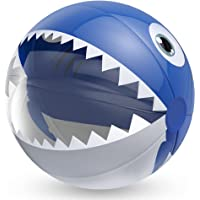 """Wenlenie Pool Toy, 16"""" Beach Ball with Latest Shark Design, Inflatable Swimming Pool Game Toy, Inflatable Beath Ball…"""