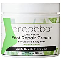 Natural Foot Cream For Dry Cracked Feet - RESULTS Within Days Or Pay Nothing - Deep...