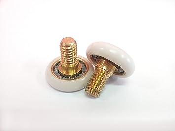 Repuesto de rodamientos para mampara de ducha para puertas correderas Kit 2 piezas Mod 19 CH INDA: Amazon.es: Bricolaje y herramientas
