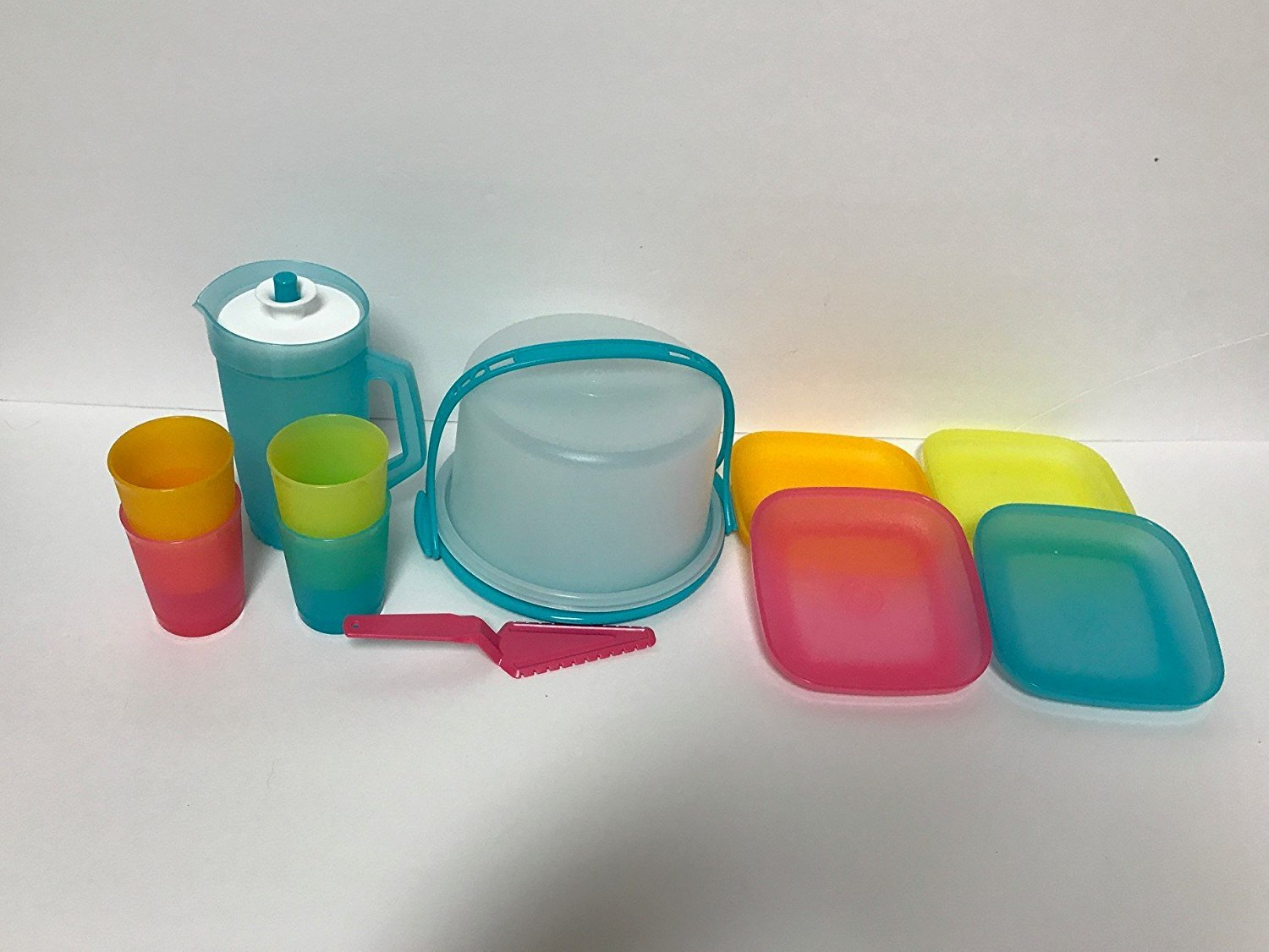 Amazon.com: Tupperware 11-Pc Mini Party Play Set For Kids in Spring ...