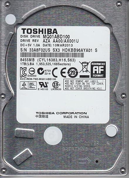 Amazon.com: MQ01ABD100, AA00/AX001U, HDKBB96AYA01 S, Toshiba 1TB