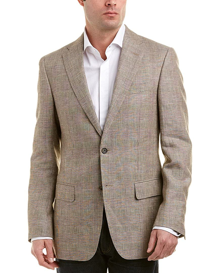 Faconnable Mens Linen & Wool-Blend Sportcoat, 52, Brown MJ0236BH009 BEX0