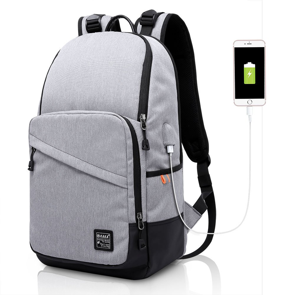 ibagbar Business Laptop Backpack Water Resistant Casual Daypack College School Bag Travel Backpack for 15.6-Inch Laptop