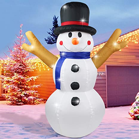 Fanshunlite Christmas Inflatable 4FT Snowman Lighted Blow-Up Yard Party  Decoration for Xmas Airblown Inflatable - Amazon.com: Fanshunlite Christmas Inflatable 4FT Snowman Lighted