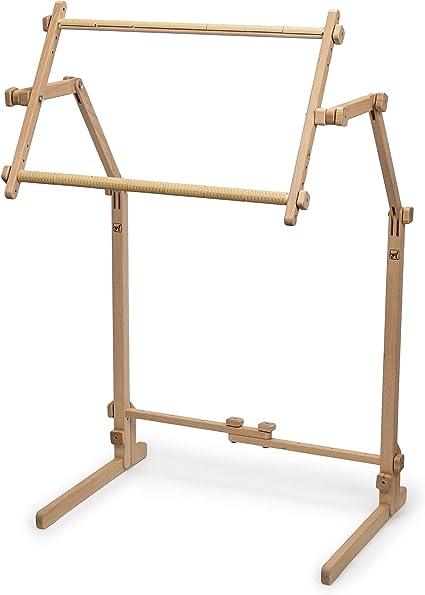 Needlework FloorStanding type Stand Made of natural beech wood Frame Hoop Holder