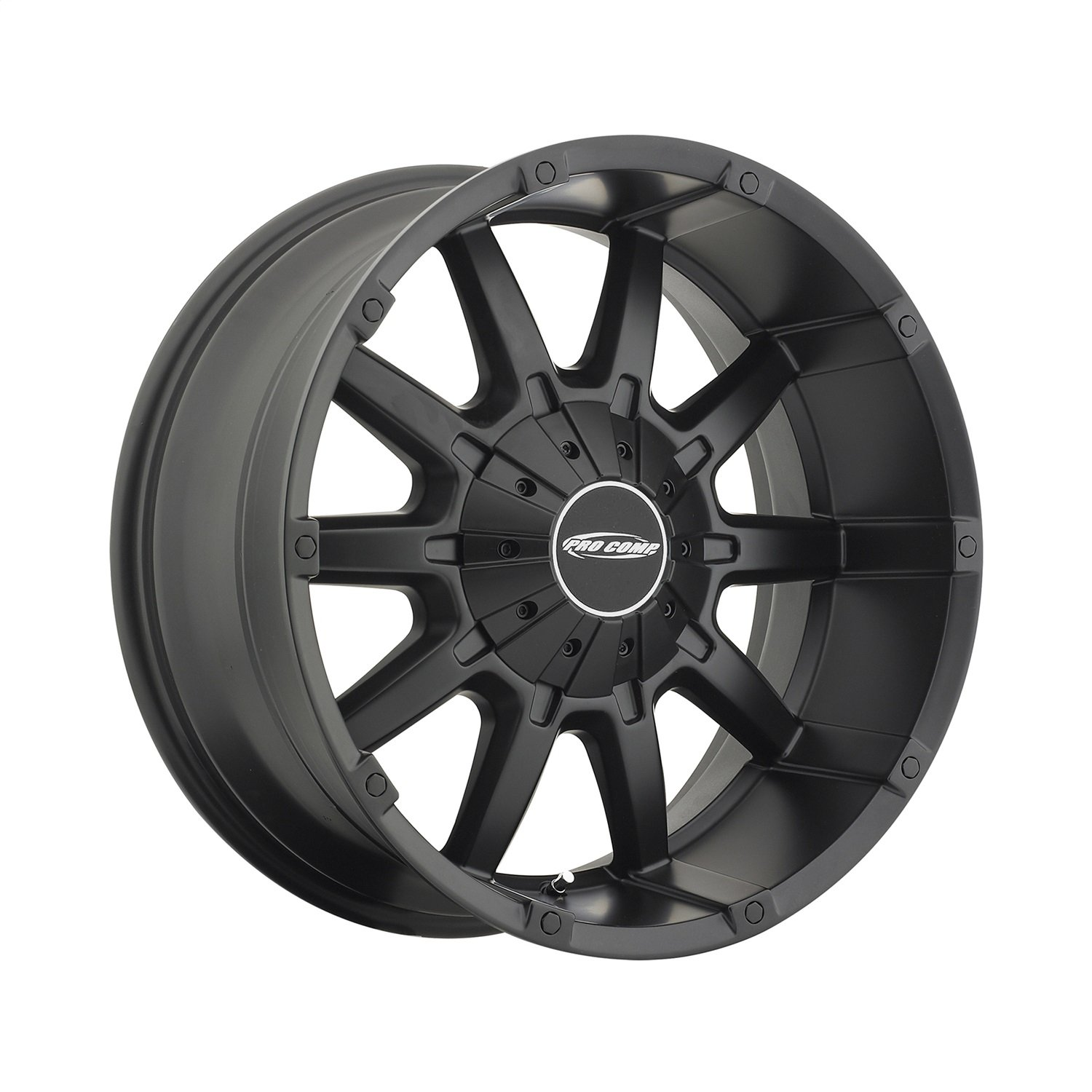 Pro Comp Alloys Series 50 10 Gauge Wheel with Satin Black Finish (20x9''/5x5'')