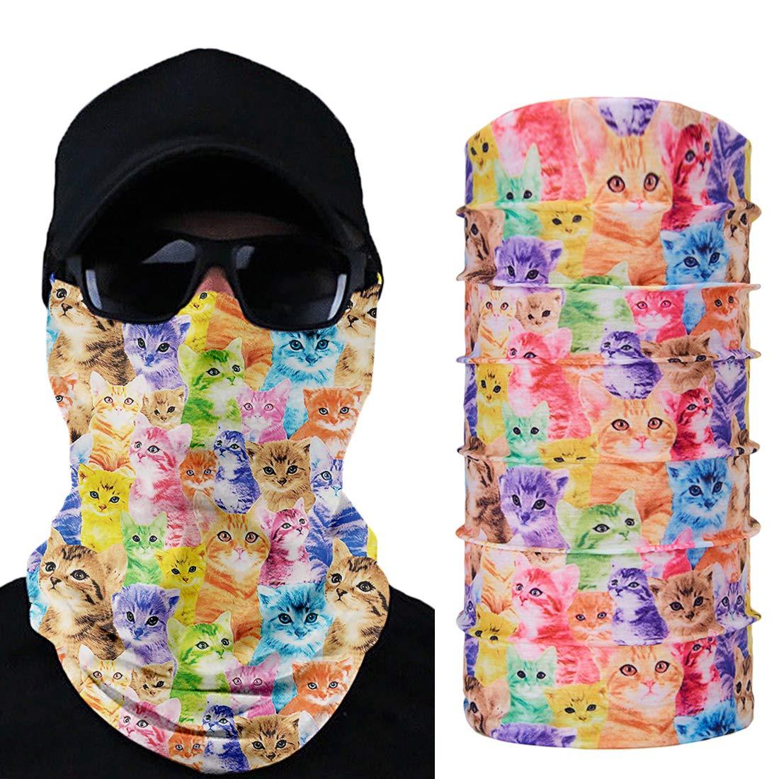 TUONROAD Schlauchtuch Baumwolle Multifunktionstuch Vielseitig Motorradmaske Gesichtsmaske SchweißBand Multifunktionstuch Bandana Tuch