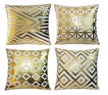 Amazon.com: BLUETTEK - Juego de fundas de almohada, diseño ...