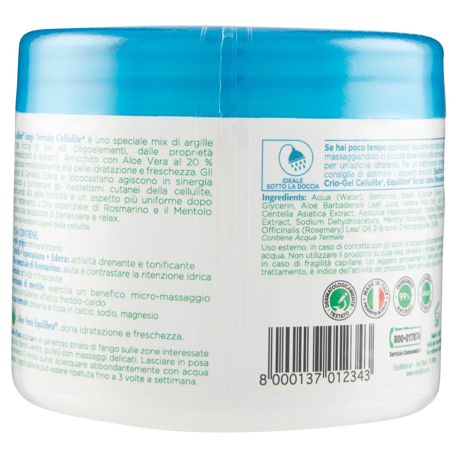 Amazon.com: Equilibria For Cellulite Thermal Mud Pot From 650g: Health & Personal Care