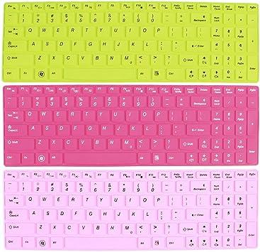 3 PC rosado fucsia verde de silicona cubierta del teclado ...