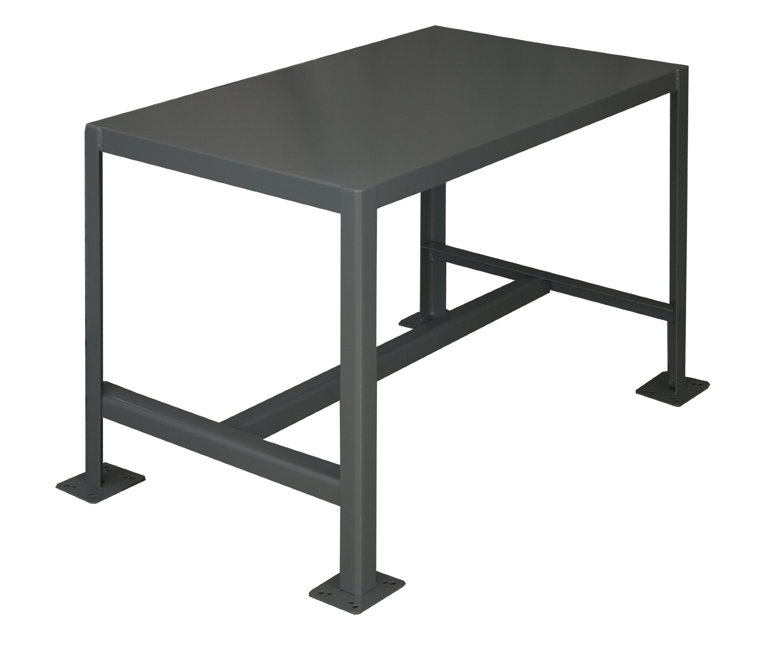 Durham Steel Medium Duty Machine Table, MT244836-2K195, 1 Shelves, 2000 lbs Capacity, 48'' Length x 24'' Width x 36'' Height by Durham (Image #1)