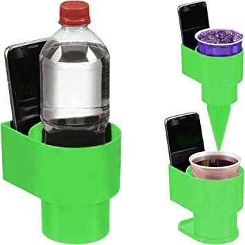 Also Holds Your Phone Holds Large Water Bottles and Cups STAND-Bi Car Cup Holder Expander Made Only in USA Perfectly Fits Your Car/'s Cupholder