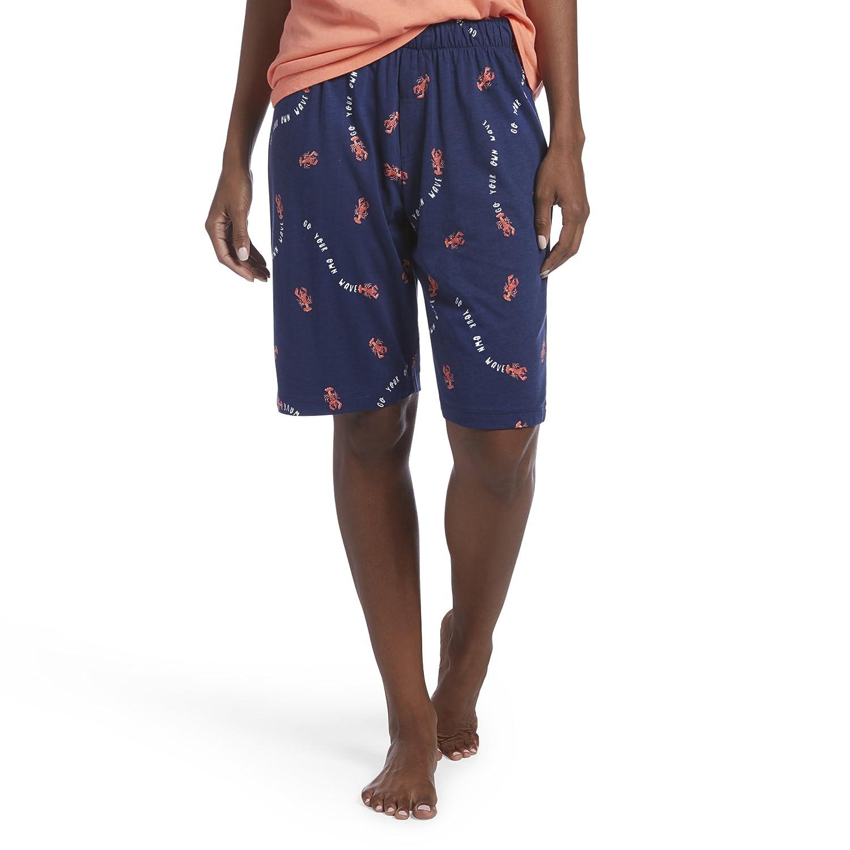 HUE Women's Printed Knit Bermuda Pajama Sleep Short P000500208