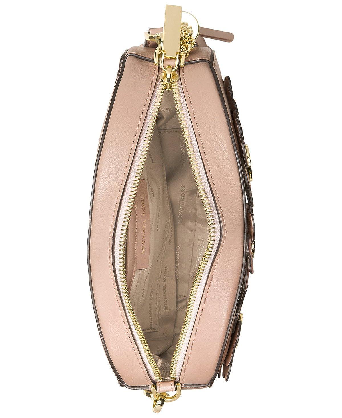 ec6e31e56a65 Amazon.com: MICHAEL Michael Kors Flora Appliqué Ginny Medium Messenger,  Soft Pink: Shoes