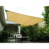 Amazon Com Square 18x18 Ft Sun Sail Shade Cover Tan