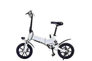 Z&L Scooter Eléctrico Bicicleta Plegable Eléctrica De 14 Pulgadas con Batería De Iones De Litio
