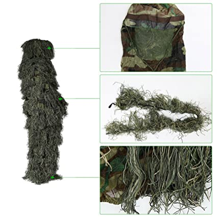 reasonably priced great quality on feet shots of Pellor Tenue Camouflage Ghillie 3D Enfant pour La chasse ...