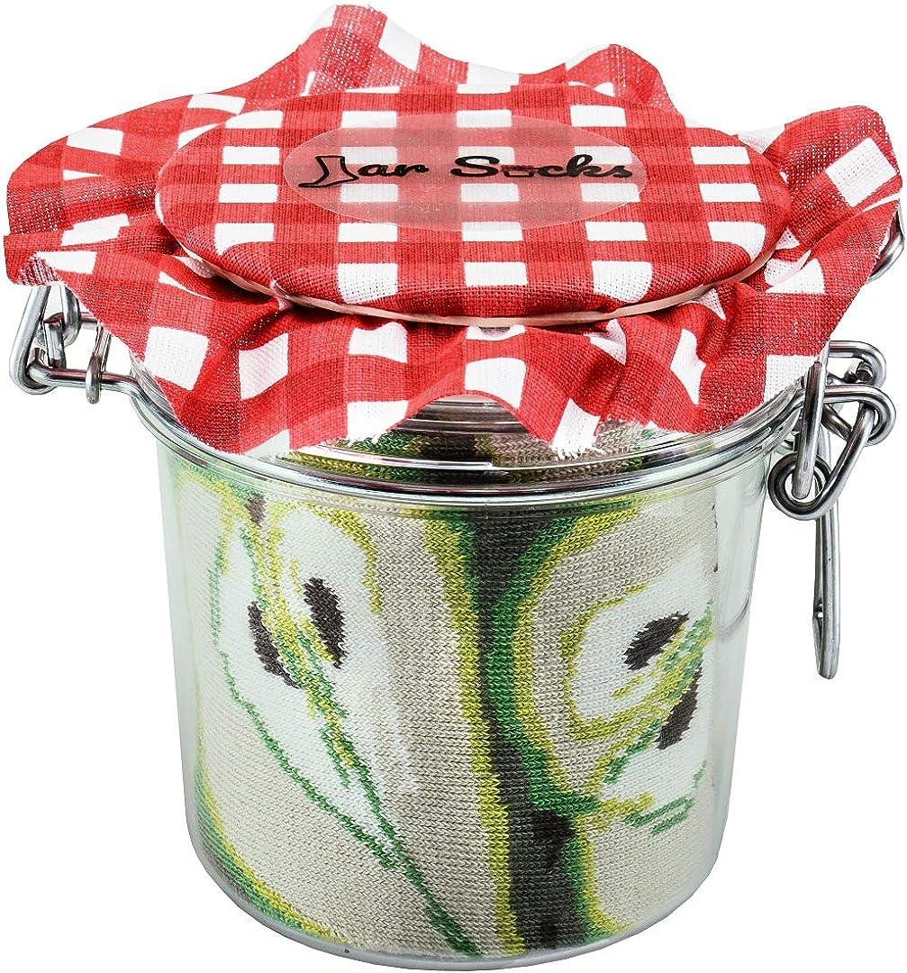 Rainbow Socks - JAR SOCKS Pears and Strawberries Funny Gift! - Unisex - 2 Pairs