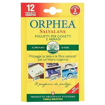 ORPHEA Salvalana – Sticky para cajones y armarios, protege la lana y los ropa más Preziosi para un intera Temporada, AL Perfume Natural De Flores – ...