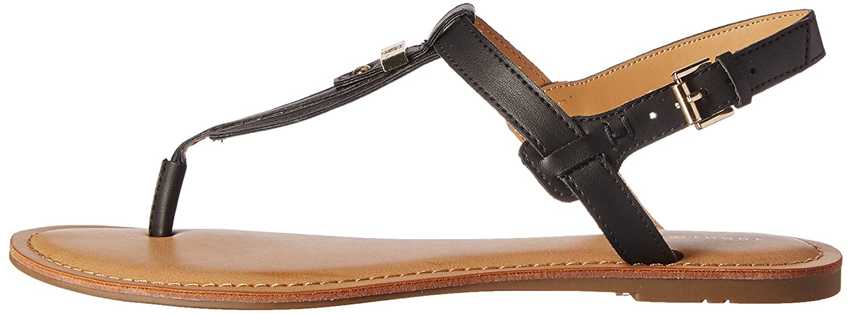 Tommy Hilfiger Women's Landmark Flat Sandal B01MA6IX9Q 8 B(M) US|Black
