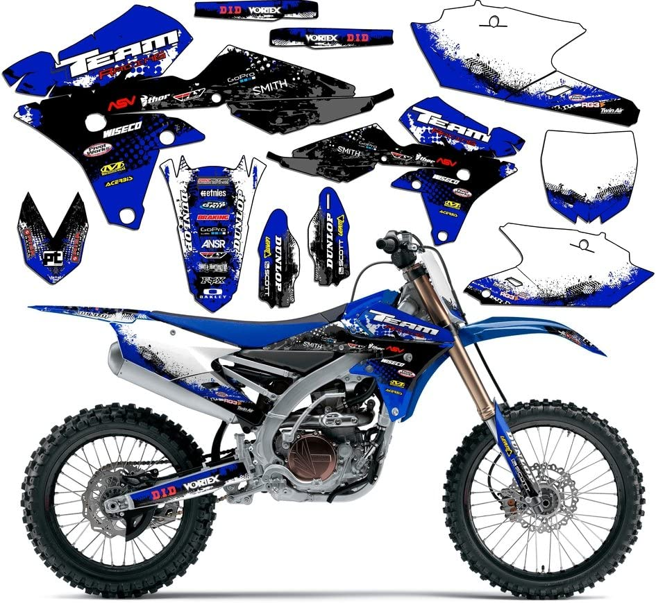 Compatible with Yamaha 2008-2019 TTR 125 Mayhem Blue Graphics Kit