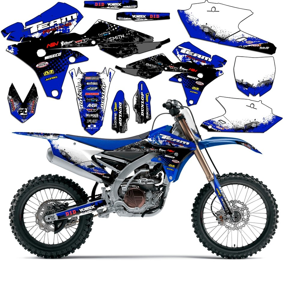 Team Racing Graphics kit for 2000-2008 Yamaha TTR 90, SCATTER