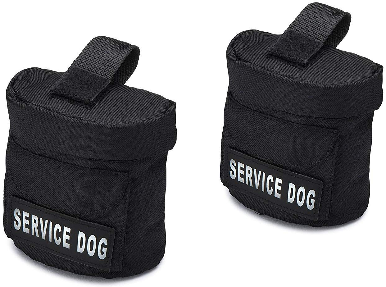 Service Dog Vest Harness Saddle Bags with Service Dog Patches - SD Backpack with Patch - Quality Back Pack Pouch with Pockets - Saddlebag for Service Dogs Vests (Service Dog) by Industrial Puppy