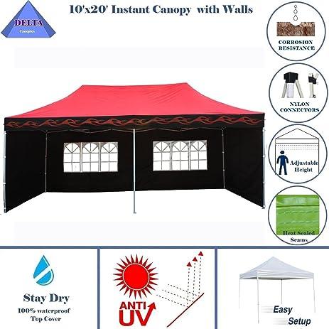 10u0027x20u0027 Ez Pop up Canopy Party Tent Instant Gazebo with 6 Removable Sides  sc 1 st  Amazon.com & Amazon.com : 10u0027x20u0027 Ez Pop up Canopy Party Tent Instant Gazebo ...