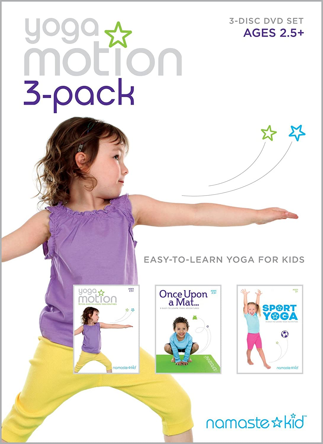 Yoga Motion 3-pack - Kids Yoga DVD 3-disc Set: Amazon.es ...