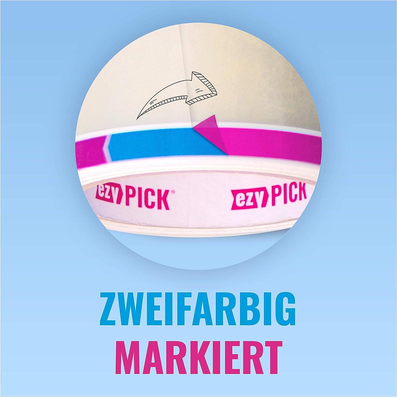 EZY Pick Fummelfreies Paketklebeband Transparent 1 Rolle 50m x 50mm Extra Stark