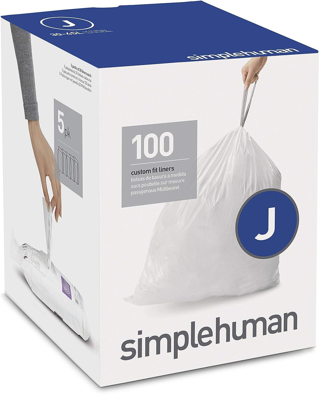 Boîte de 60 Simplehuman Code//Taille R Bin Sac Liner