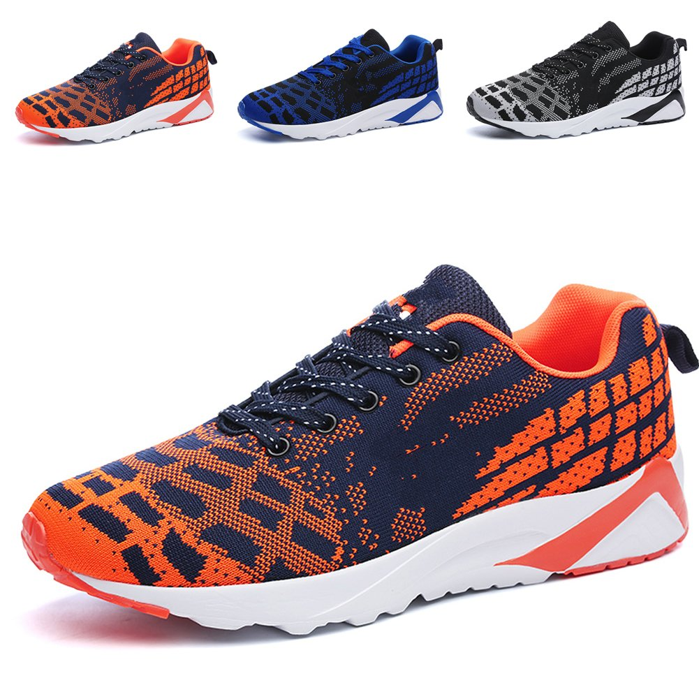 RomenSi Men's Lightweight Athletic Tennis Running Shoes Breathable Sports Walking Sneakers US7-11 B0734SV15B 11 D(M) US Orange