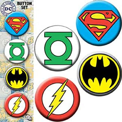 Amazon.com: dc comics Logo de superhéroes (varios Pack de 4 ...