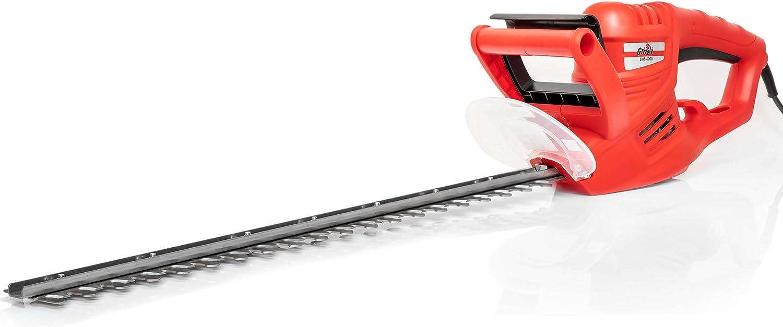 Grizzly Tools Cortasetos eléctrico EHS 6000, longitud de corte: 55 cm, 600 W, interruptor de seguridad, freno de cuchillo.