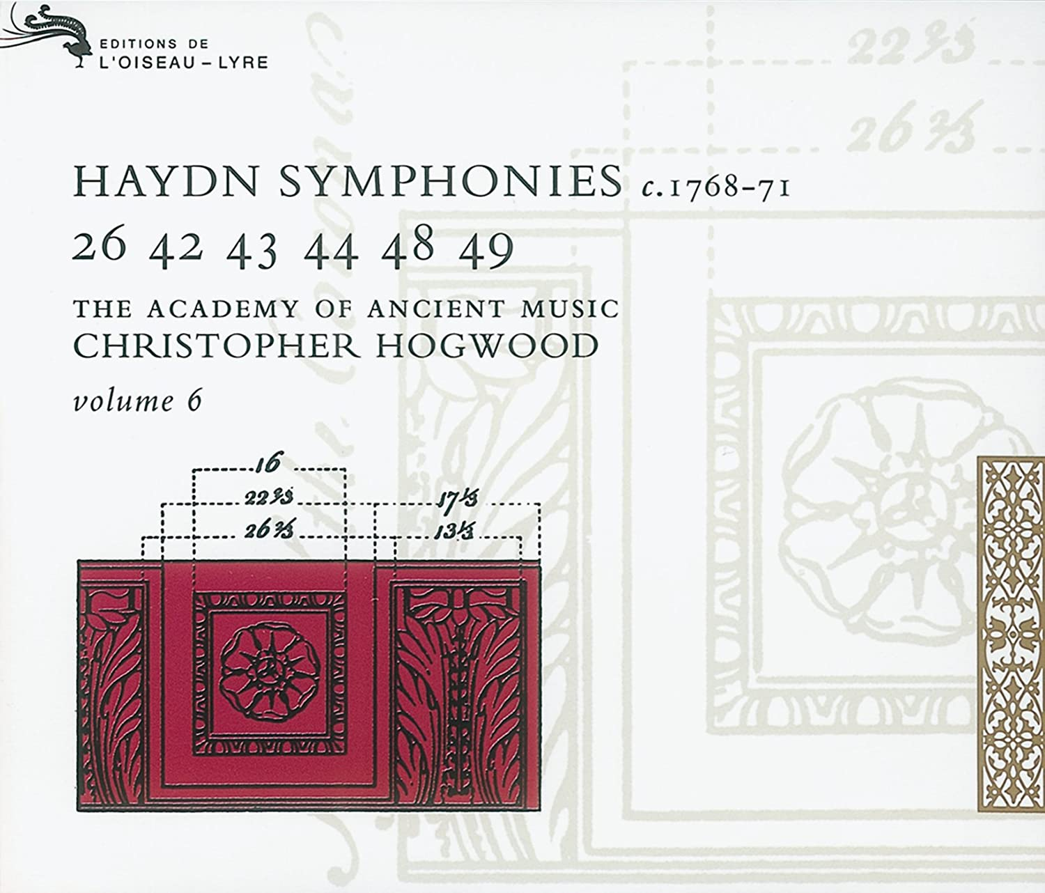 Franz Joseph Haydn, Christopher Hogwood, The Academy of Ancient Music -  Joseph Haydn: Symphonies, Volume 6 (c. 1768-71) - The Academy of Ancient  Music ...