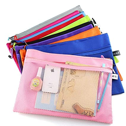 Amazon.com : Colorful Double Layer Canvas Cloth Zipper Paper ...